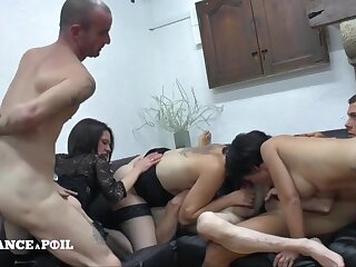Unmitigatedly Grotesque Swinger Private Party - Amateurs Orgy