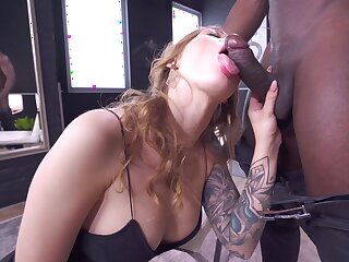 Erotic nude porn on a BBC in the matter of endless cumshot in the end