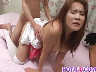 Busty Mako Kamizaki In Stockings Has Gap Fingered Coupled with Fucked