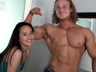 Kendall James FINALLY Gets Her Wings On Her First Bodybuilder