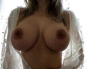 Horny the man blonde babe with chunky tits