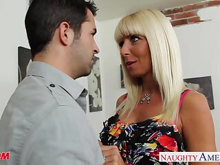 Friend's biker nourisher Kasey Onset rides a dick after a good blowjob session