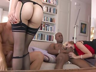 Hardcore interracial anal sex with sluts Kimber Delice & Sophia Laure