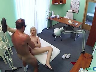 Blonde Shows Doc She's Fit to Work