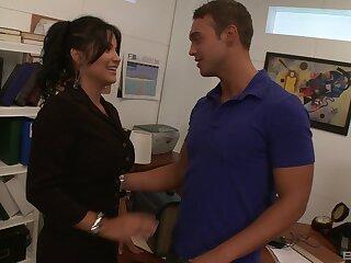 Gorgeous brunette Sophia Lomeli bends over be proper of a lover's cock