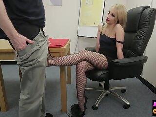 Naughty sexy beauteous sucks femdom cock