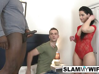 Cuck watched his wife take a BBC in get under one's ass